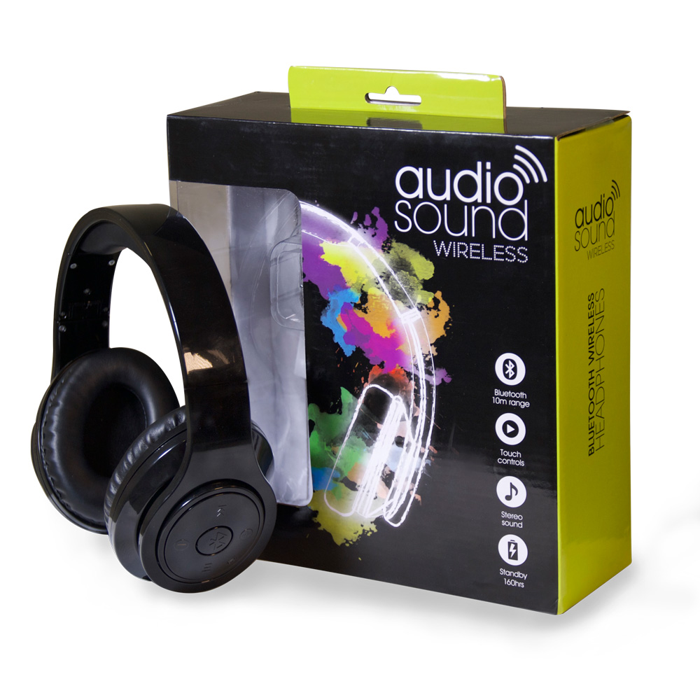 Bluetooth Wireless Headphones Metallic Black