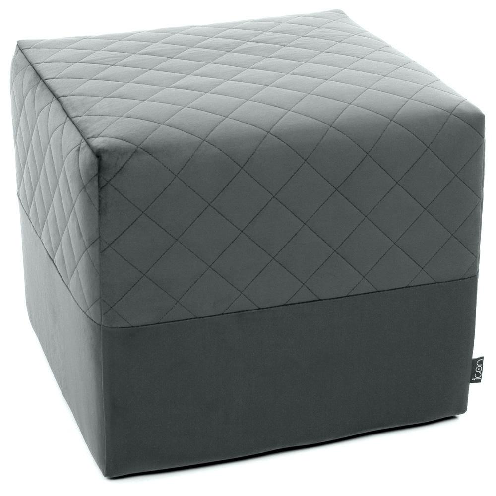 grey square footstool
