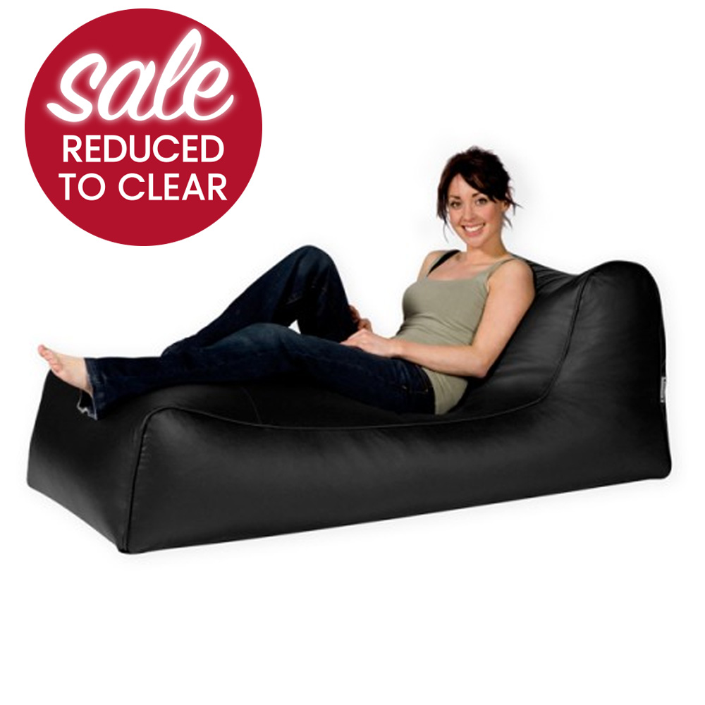 Leather chaise longue shop for cheap home garden and for Bean bag chaise longue
