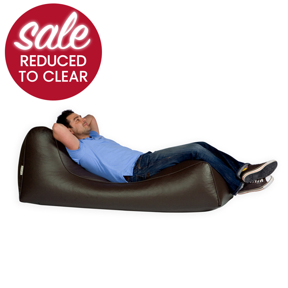 LiLo Bean Bag Lounger Faux Leather Brown