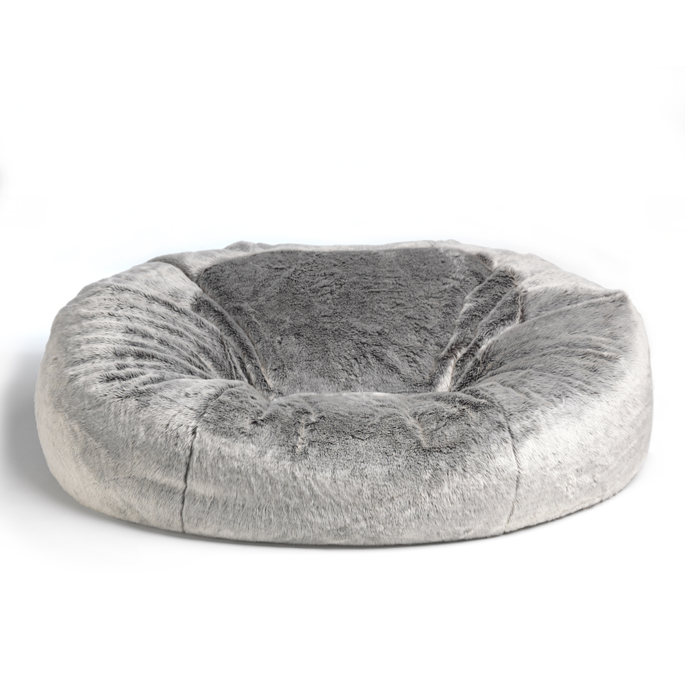 Grey Fur Cloud Bean Bag