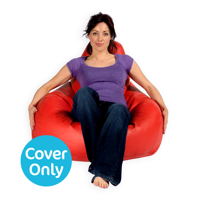 COVER – Gaming Bean Bag Recliner Faux Leather Red