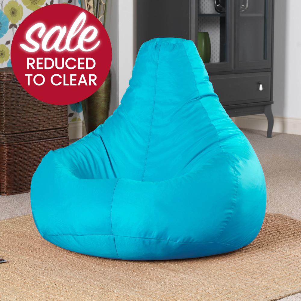 Image of Gaming Bean Bag Recliner Indoor-Outdoor Aqua
