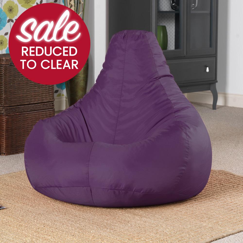 Gaming Bean Bag Recliner IndoorOutdoor  Mulberry Purple