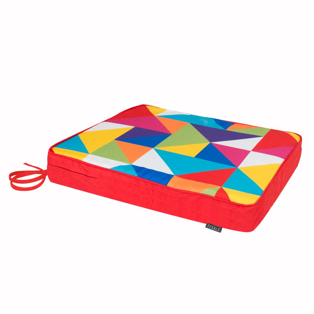 Technicolour Geometric Garden Chair Cushion