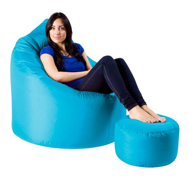 XXL Adult Teardrop Bean Bag Chair IndoorOutdoor Aqua