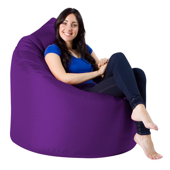 XXL Adult Teardrop Bean Bag Chair IndoorOutdoor Purple