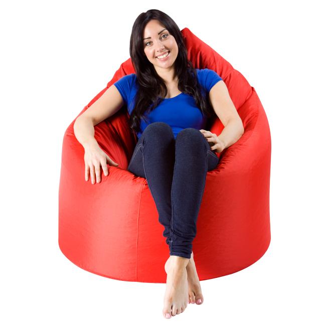 XXL Adult Teardrop Bean Bag Chair IndoorOutdoor Red