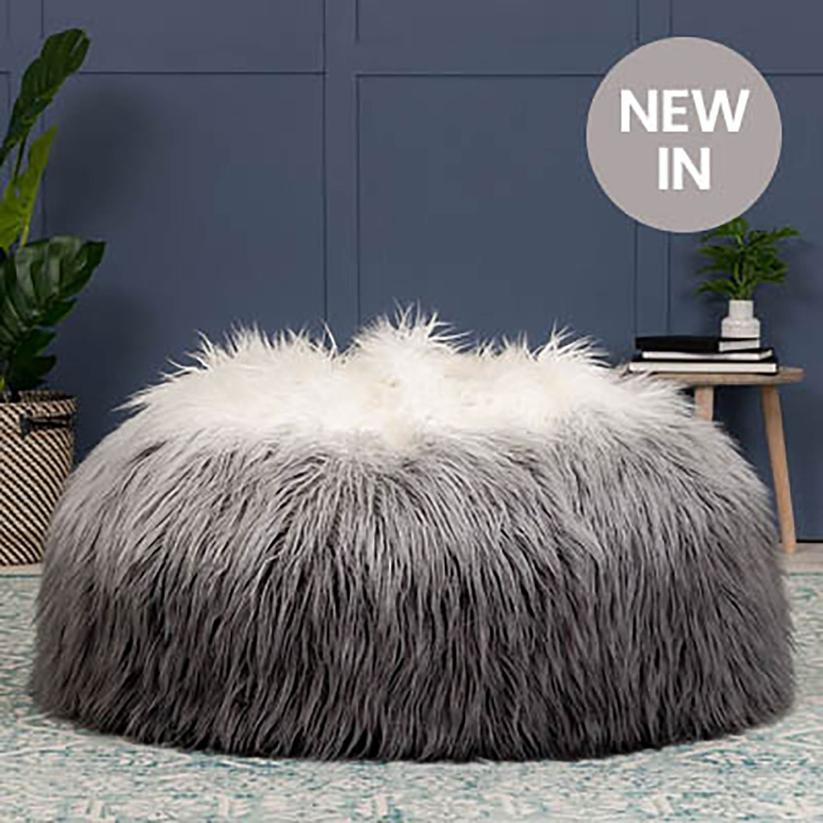 Ombre Faux Fur Bean Bag