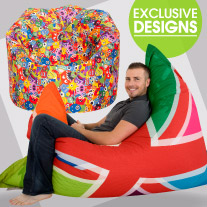 ICON printed bean bags