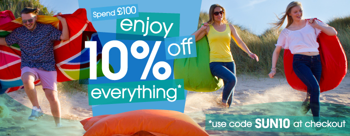 Save 10% on all Bean Bags