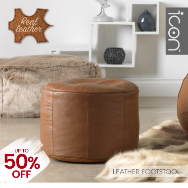Real Leather Footstool - banner