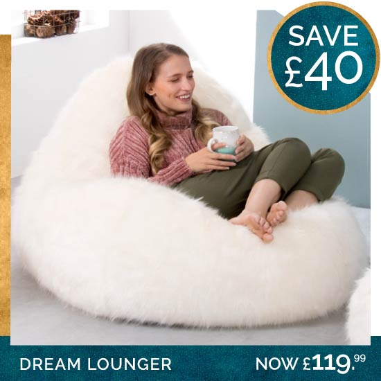 Faux Fur Dream Lounger Bean Bag