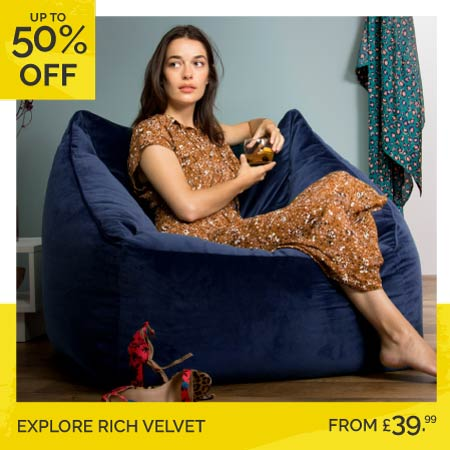 Velvet Bean Bags - Category