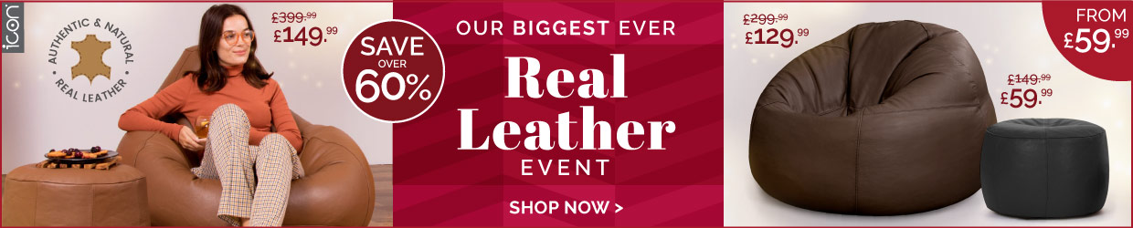 Real Leather Bean Bags Event