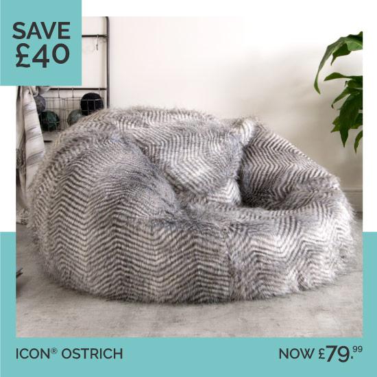 Ostrich faux Fur Bean Bag af248fcf6b372