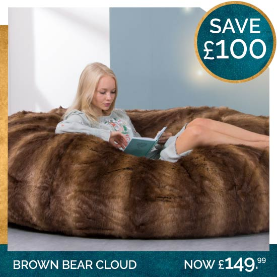 Brown Bear Faux Fur Cloud