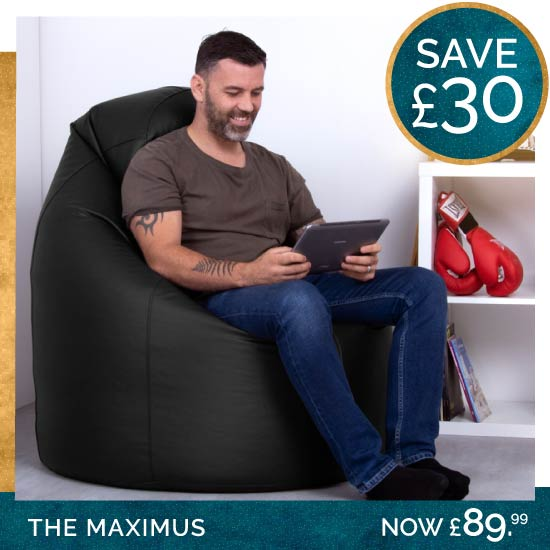 Maximus Giant Faux Leather Bean Bag