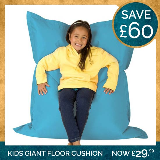 Kids Giant Floor Cushion Aqua