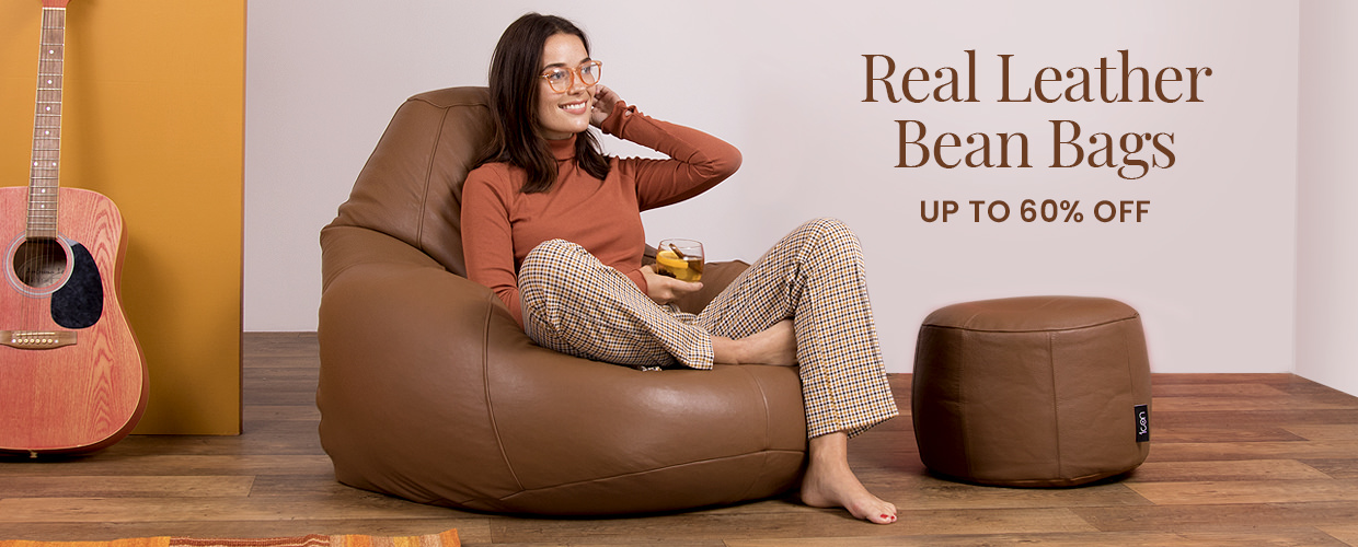 """Real Leather Bean Bags"