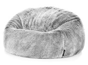 Faux Fur Silver Bean Bag