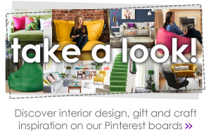 Discover interior design, gift and craft inspiration on our Pinterest boards