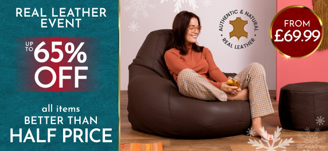 Real Leather Bean Bags - Mobile