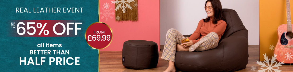 Real Leather Bean Bags - Desktop