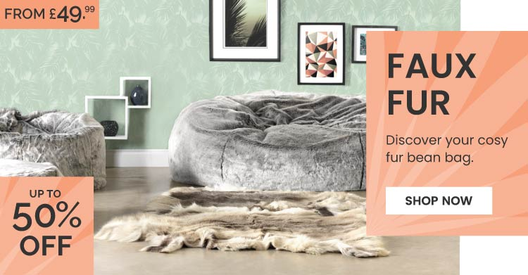 Faux Fur Bean Bags - Mobile