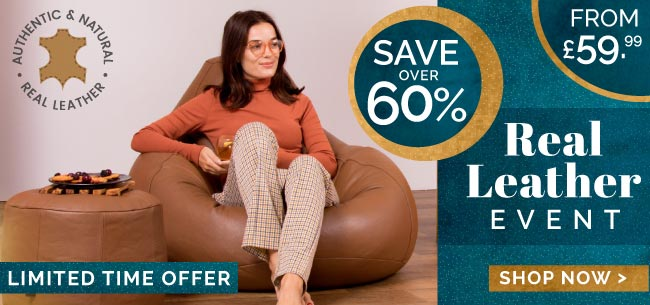 eal Leather Bean Bags Event - HP Promo