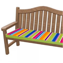 Technicolour Stripe Bench Cushion