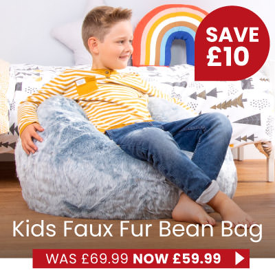 Faux Fur Kids Bean Bag