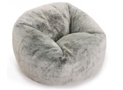 Luxury Faux Fur Silver Bean Bag