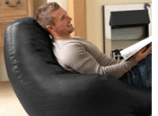 Recliner Faux Leather Bean Bag